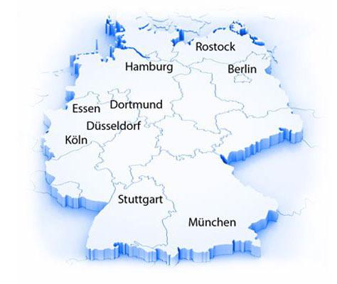 Standorte von Alles Clean 24 in Deutschland
